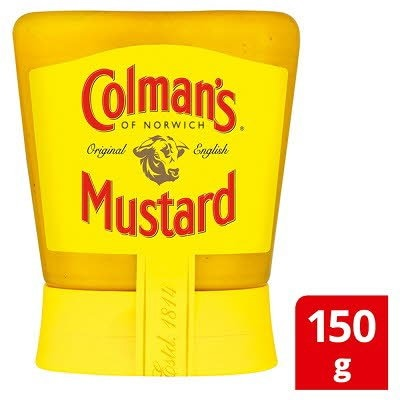 Colman's English Mustard Squeezy 150gx6