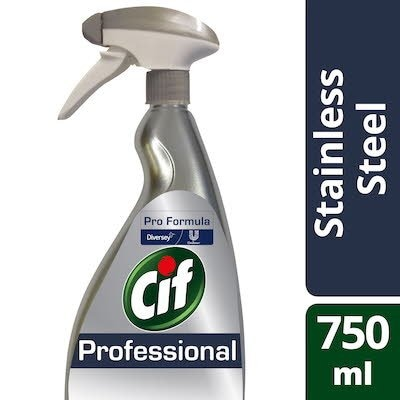 Cif Pro Formula Stainless Steel Cleaner Spray 750ml