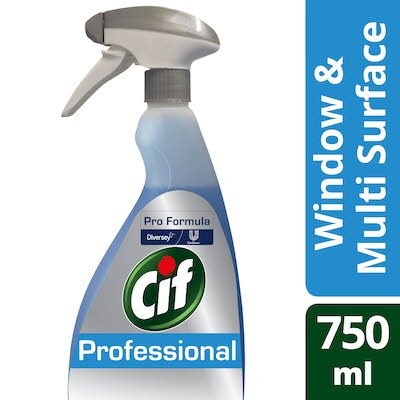 Cif Pro Formula Window & Multi Surface Cleaner Spray 750ml -
