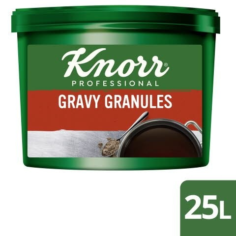 Knorr® Professional Gluten Free Gravy Granules for Meat Dishes 25L - KNORR Gravy Granules make a great gravy that is gluten-free