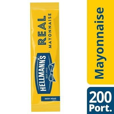 Hellmann's Real Mayonnaise 198 x 10ml Portions -