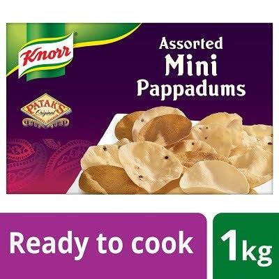 Knorr Patak's Mini Pappadums 1kg -