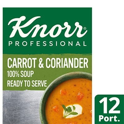 Knorr Professional 100% Soup Carrot & Coriander 12 Port -