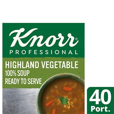 Knorr Professional 100% Soup Highland Veg 4x2.5kg -