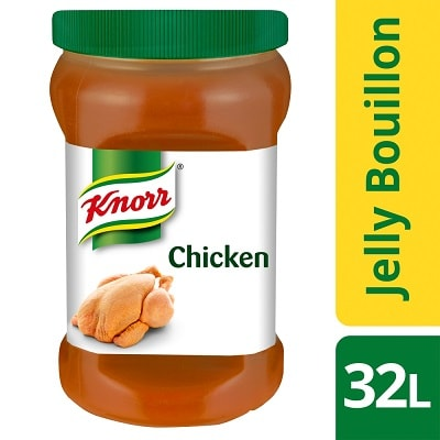 """KNORR Professional Chicken Jelly Bouillon 800g - Jelly Bouillon is the closest to scratch you can get."""" – Mark Sargeant, Restaurateur, Rocksalt, Folkestone"""