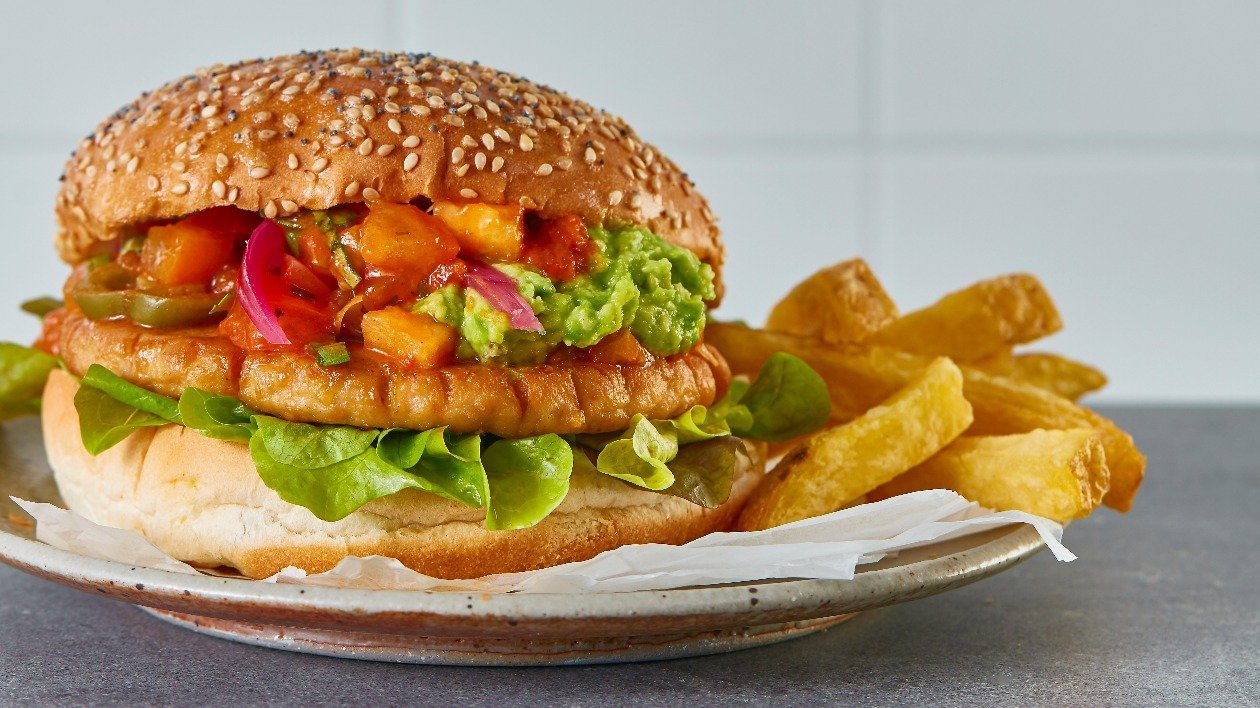 The Vegetarian Butcher NoChicken Mexican Burger – recipe