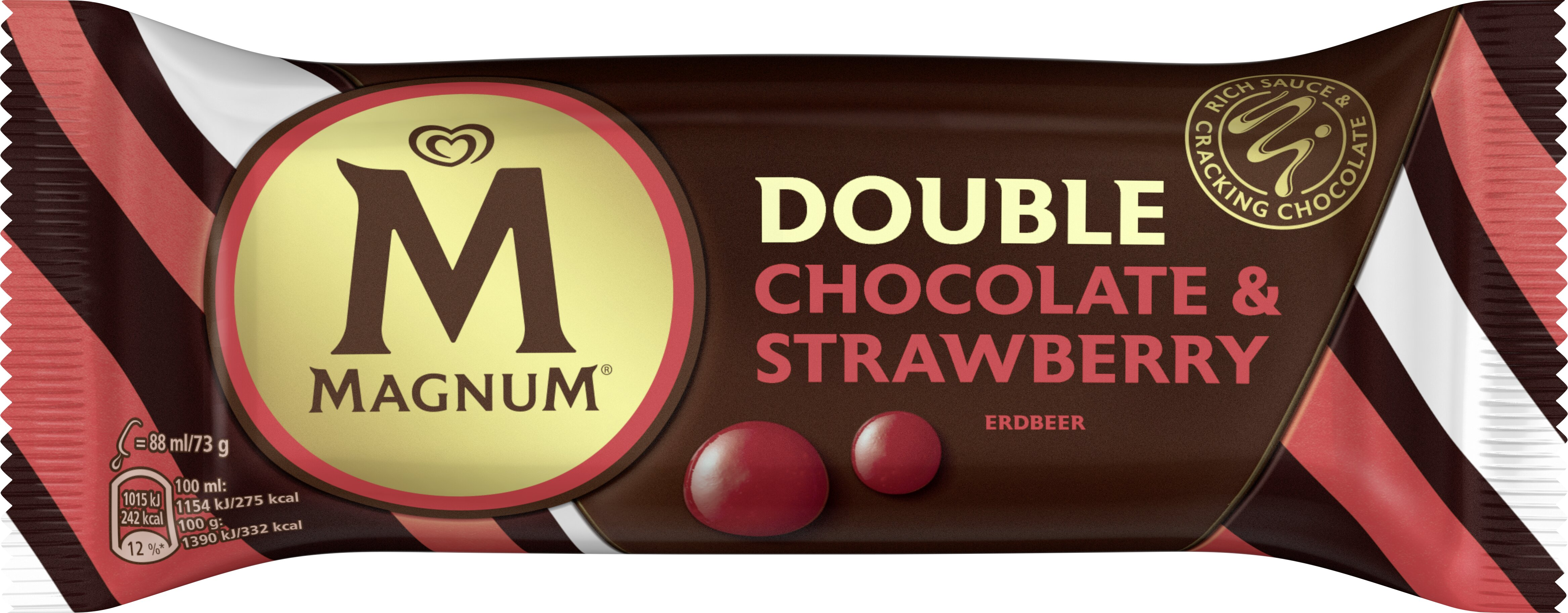 Magnum Double Chocolate & Strawberry 88ml -